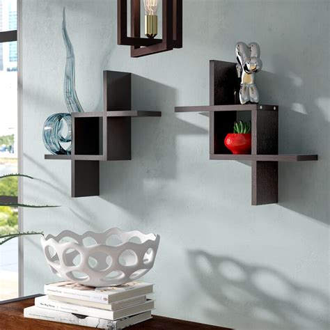 Lydon Criss Cross Wall Shelf (Set of 2)
