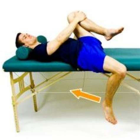 lying hip flexor stretch exercise