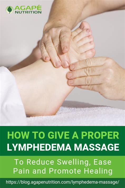 lymphedema leg massage techniques