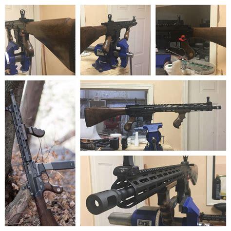 Tommy-Gun M16 With Tommy Gun Grip.