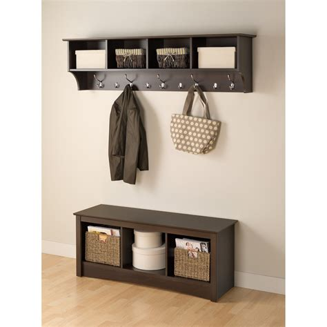 Mackenzie 60 Hanging Entryway 9 Hook Storage Shelf