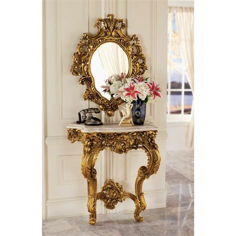 Madame Console Table and Mirror Set