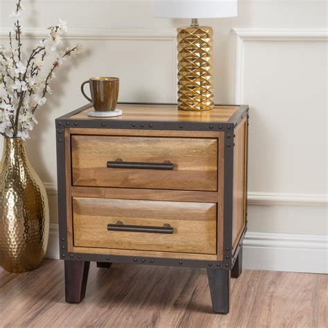 Madsen 2 Drawer End Table