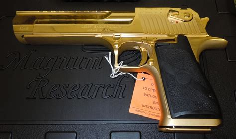 Desert-Eagle Magnum Research Desert Eagle Mk Xix 24k Gold.