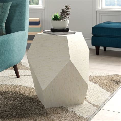 Mahn Mosaic Geometric End Table