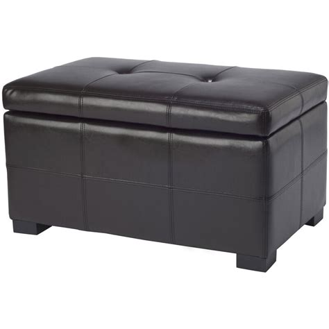 Maiden Leather Storage Ottoman