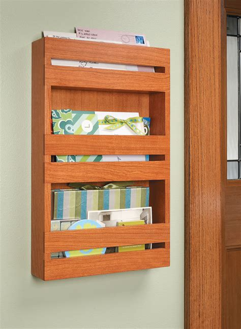 Mail Organizer Woodworking Plans