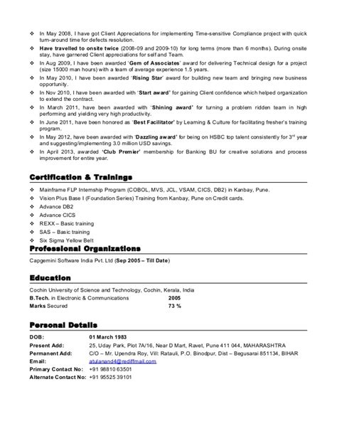 Mainframe Team Leader Resume Submit Resume C R Solutions