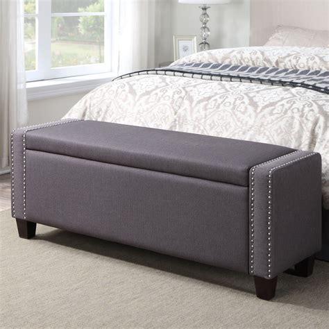 Majestic Upholstered Storage Bedroom Bench