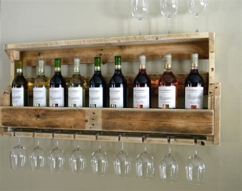 make a wine rack from a pallet