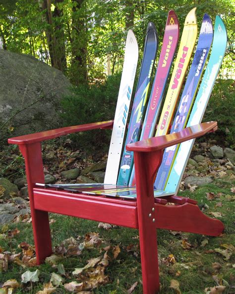 make adirondack chair from skis