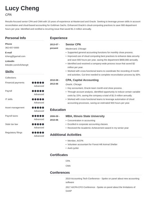 Make a resume quick