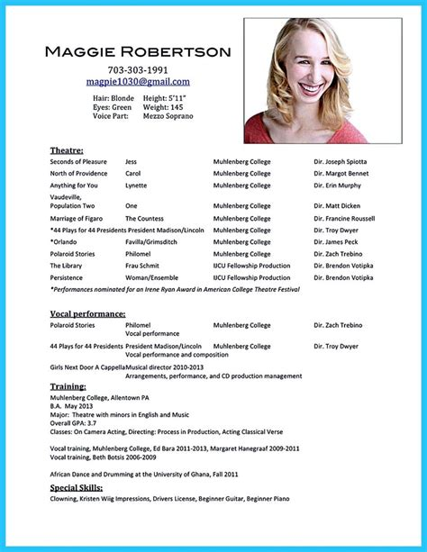 Make A Acting Resume Online Your Acting Resume In Minutes At Actingresume An