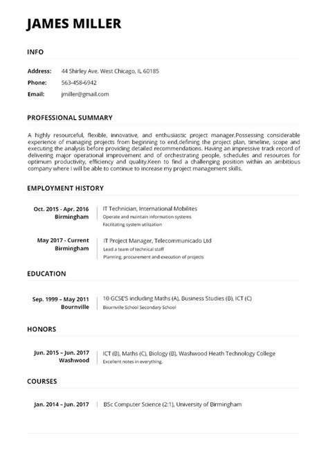 make my resume online for free resume maker write an online resume with a few clicks - Make My Resume Free Online