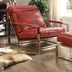 Malkesh Top Grain Leather Armchair