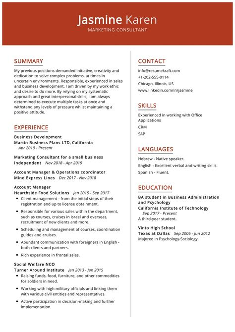 management consulting resumes templates resume objective