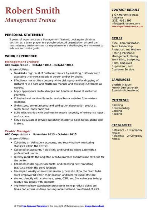 management trainee resume objective management jobs careerbuilder - Enterprise  Management Trainee Resume