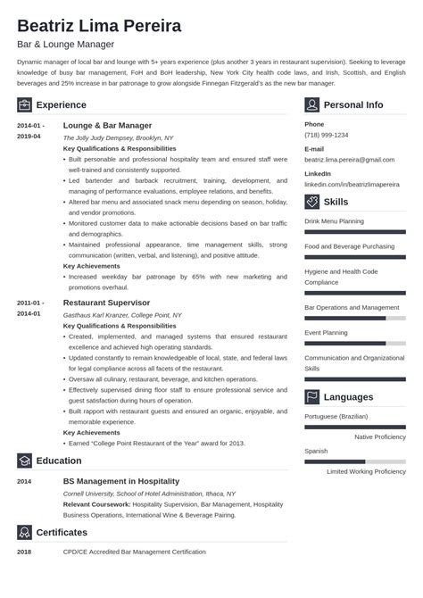 Manager bar resume job description sample for librarian manager bar resume bar manager cv template dayjob yelopaper Image collections