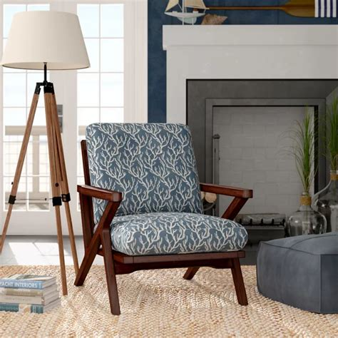 Manchester Mid-Century Rain Wood Accent Armchair