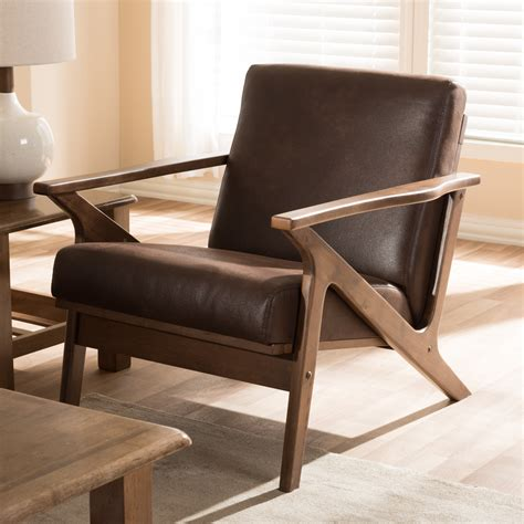 Manglo Mid Century Wood Accent Armchair