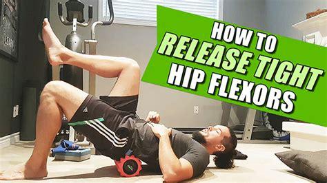 manual hip flexor release stretches for plantar