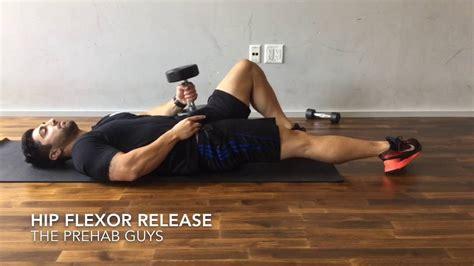 manual hip flexor release with 212