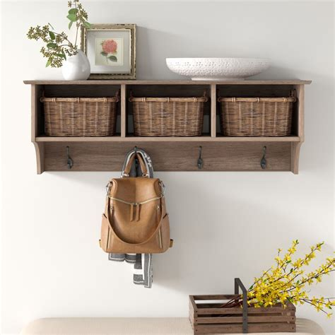 Manzanola Wood Wall Mounted Coat Rack