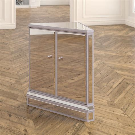Mariaella Mirrored 2 Doors Accent Chest