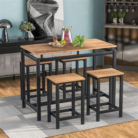 Marilee Metal Wooden Counter Height Dining Chair (Set of 4)