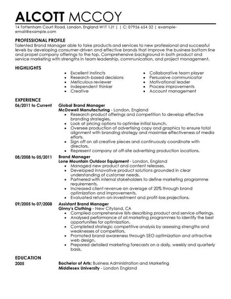 curriculum vitae example for marketing assistant comprehensive