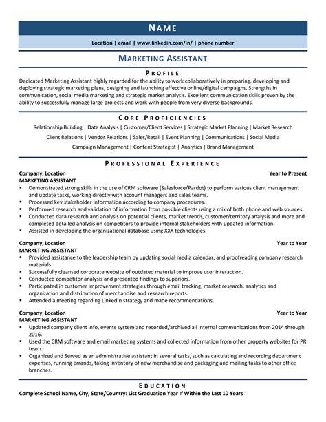 marketing assistant job description sample marketing assistant resume samples jobhero sample marketing assistant resume