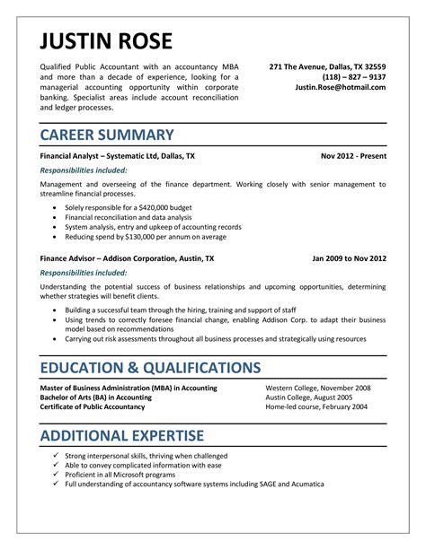 entry level accounting resume examples resume format download pdf