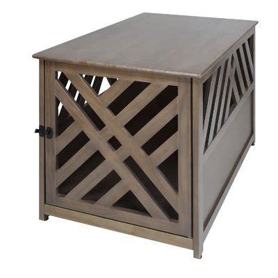Marlatt Modern Lattice Pet Crate End Table