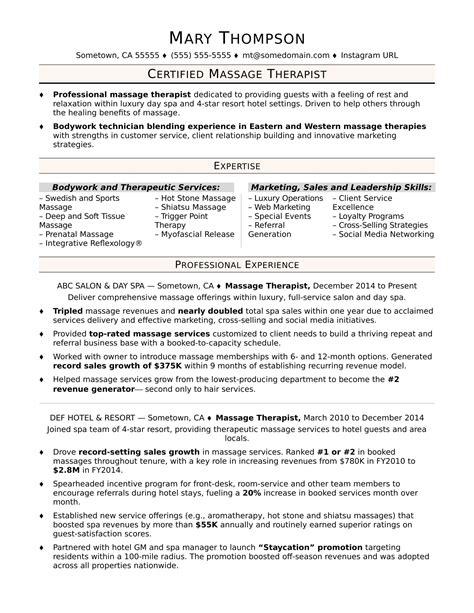 resume cover letter massage therapist massage therapist resume best sample resume - Massage Therapist Sample Resume