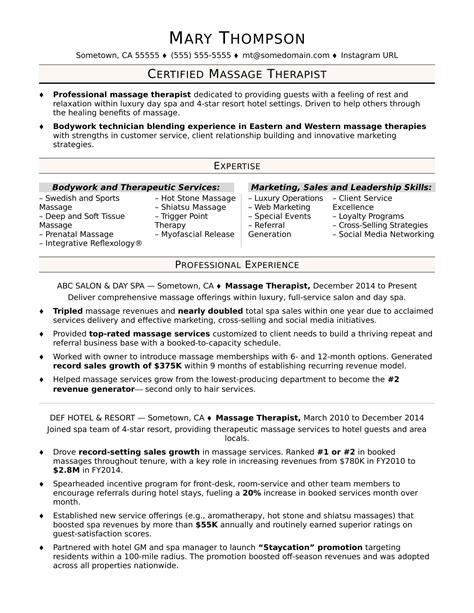 curriculum vitae sample vs resume - Massage Therapist Resume Examples