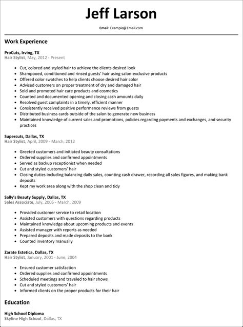 master hair stylist resume template resume examples
