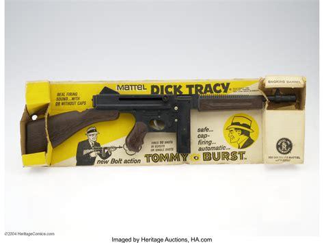 Tommy-Gun Mattel Dick Tracy Tommy Burst Cap Gun Set.