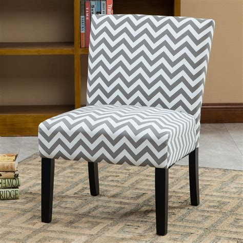 Maurice Wave Print Fabric Slipper Chair