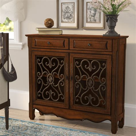 Mauzy Cupboard 2 Drawer Accent Cabinet