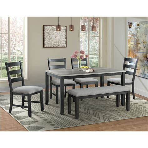 Mavis 6 Piece Solid Wood Dining Set