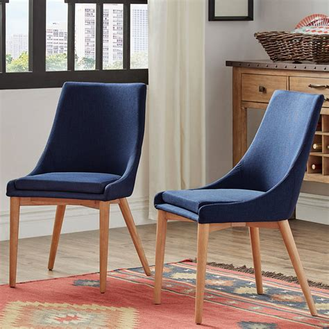 Maysonet Mid-Century Upholstered Dining Chair (Set of 2)