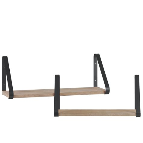 Mazzola Angled Rectangular 4 Piece Wall Shelf Set (Set of 4)