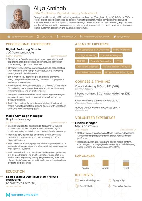 Professional Curriculum Vitae   Resume Template Sample Template of Nice MBA  Marketing Fresher   No Experience