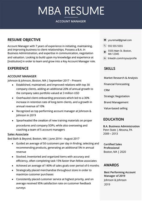 mba resume objective statement business resume objective
