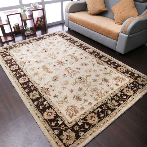 Mcandrews Hand Knotted Wool Tan Area Ru by