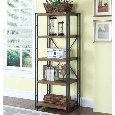 Mcbroom Narrow Industrial Etagere Bookcase