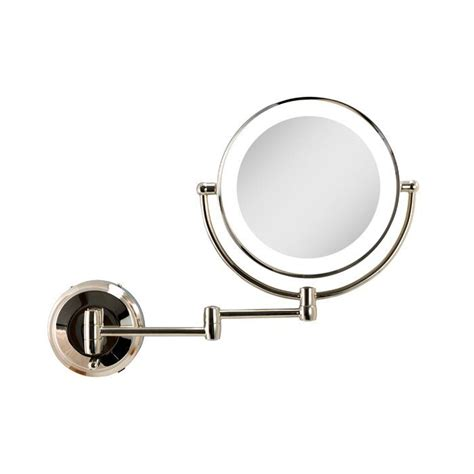 Mccants Cordless Dual LED Beveled Lighted Magnifying Wall Mirror