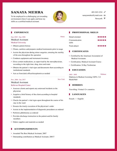 Medical Assistant Sample Resume Objective Career Enter