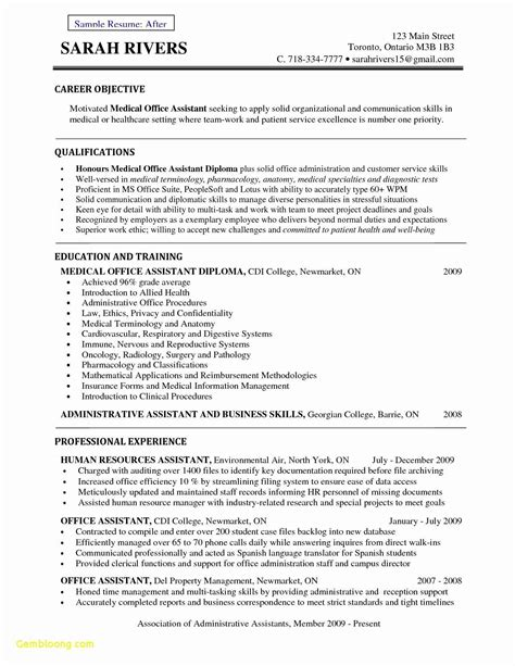 sample resume for medical office assistant unforgettable office