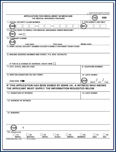 Medicare B Application Forms Medicare Forms Medicaregov